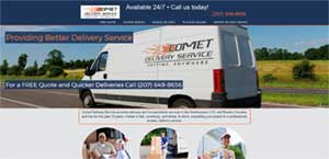 Website Design for Comet Delivery Service